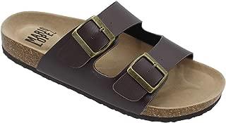 Alexis Bendel Men Double Buckle Straps Sandals Flip Flop Platform Footbed Sandals