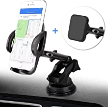 BTMAGIC Car Phone Mount with Free Magnetic Holder, Dashboard Car Phone Holder, Ultimate Hands-Free Phone Holder for Car Dashboard, Washable Super Suction Cup, Compatible for iPhone 11/11 Pro / 8 Plus