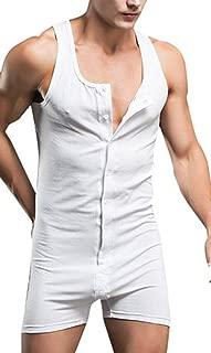 sandbank Men's Sexy One Piece Button Bodywear Body Suit Underwear Tights Leotard