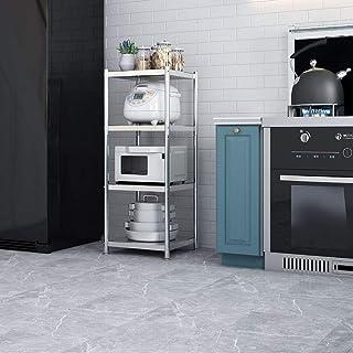 BTTNW HO Soporte de microondas 4-Tier Metal de Cocina Bastidores de Almacenamiento de microonda Standfor Estante de Especia Organizador Microondas Cesta Soporte (Color : Silver, Size : 115x37x60cm)