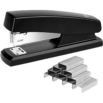 Deli Stapler, Desktop Staplers with 640 Staples, Office Stapler, 25 Sheet Capacity, Black