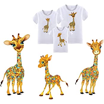 Sew On Patch Badge Applique Motif Giraffe Animal Embroidered Iron