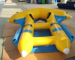 JYNselling 2/4/6 Person PVC Inflatable Banana Boat Raft Towable Tube Float Flying Fish Hunter + Blower