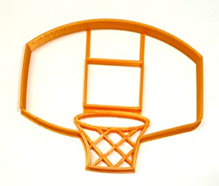 BASKETBALL BACKBOARD NET HOOP RIM SHOOTING BALL JUMP SHOT DRIBBLE TEAM HOOPS NCAA NBA WNBA MARCH MADNESS SPECIAL OCCASION COOKIE CUTTER BAKING TOOL 3D PRINTED MADE IN USA PR2417