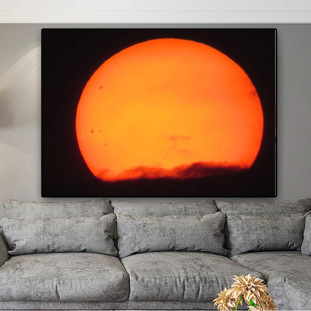 Amazon Com Wfuby Decorative Paintings Canvas Print Modern Sunset Natural Scenery Landscape Painting Wall Art Picture Simple Home Decor 24x32inch Posters Prints