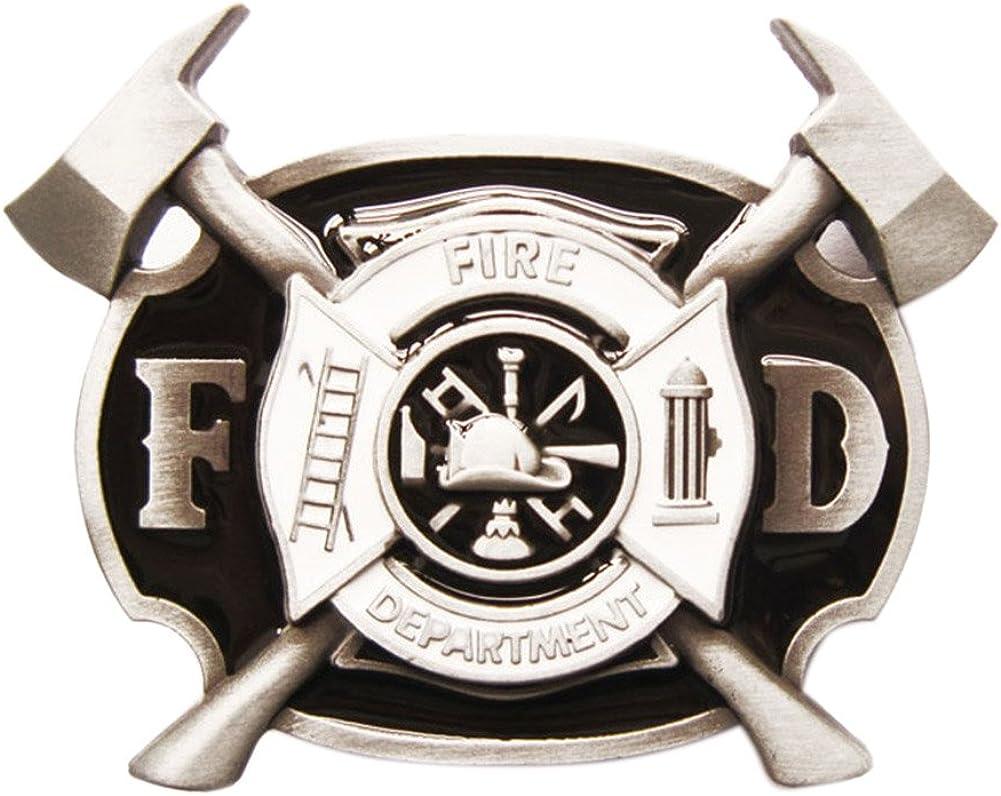 Vintage Style Enamel Ranking TOP2 Firefighter Belt Product Cross Buckle FD