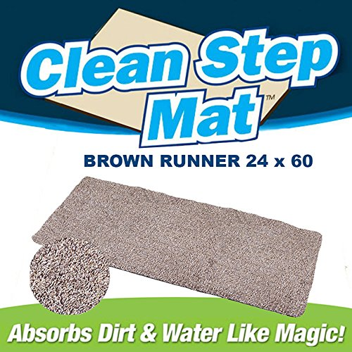 Ontel Clean Step Mat Runner (24' - 60') Tan 2 Pack