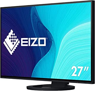 EIZO FlexScan EV2795 BK 68,5 cm (27 Zoll) Monitor (HDMI, USB 3.1 Hub, USB 3.1 Typ C, RJ 45 LAN, DisplayPort, 5 ms Reaktionszeit, Auflösung 2560 x 1440) schwarz