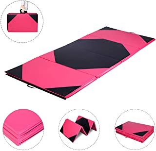 Giantex Gymnastics Mat, 4'x10'x2 Extra Thick Anti-Tear Folding Gymnastics..