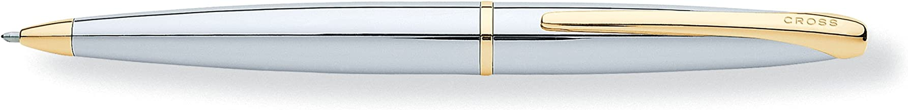 Cross ATX, Medalist, Ballpoint Pen, with Two-Tone Combination of Polished Chrome and 23 Karat Gold Plated Appointments (882-10)