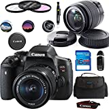 Canon EOS Rebel T6i DSLR Camera with 18-55mm is STM Lens + Deal-Expo Essential Accessories Bundle