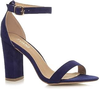Ajvani Women's Block High Heel Strappy Sandals Size
