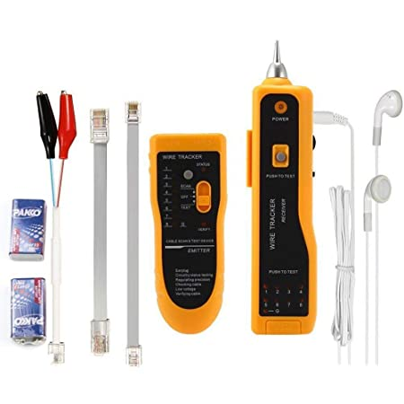 Network RJ11 Line Finder Cable Tracker Tester Toner Electric Wire Tracer w// Bag