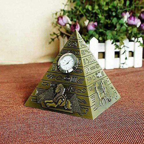Qingtianlove Tres Pirámide Bronce Figura Modelo Egipto