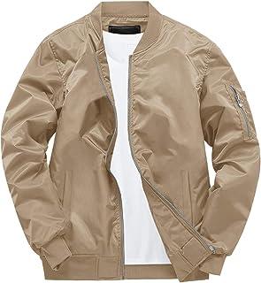 EKLENTSON Men's Fall Casual Cotton Slim Fit Jacket Thin Lightweight Outdoor Sportswear Bomber Jacket