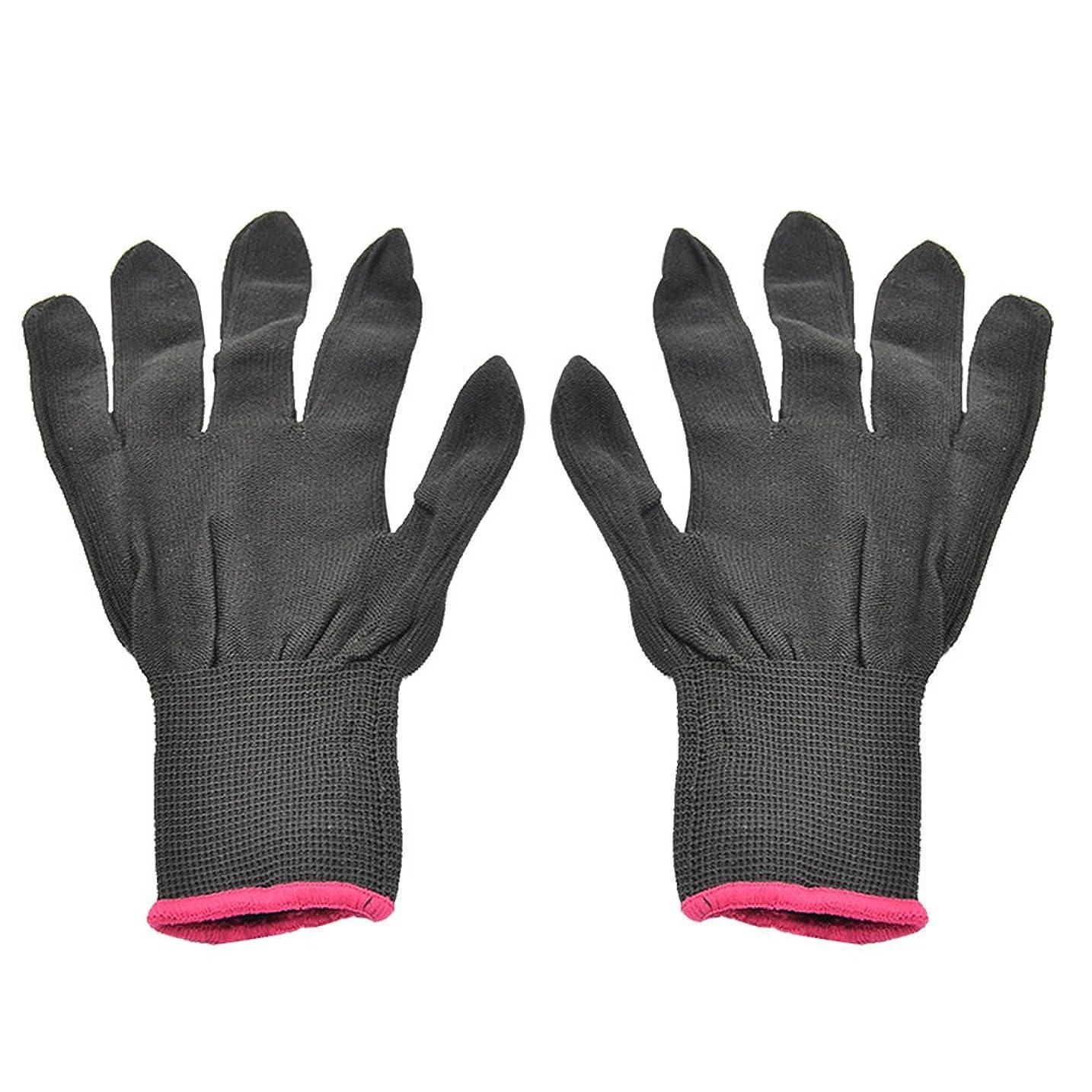 近代化する中央ツールゴシレ Gosear 1 ペア 男女兼用 熱 抵抗力 美容 耐熱手袋 ため カーリング 平らな鉄 カーリング 杖 髪 スタイリング