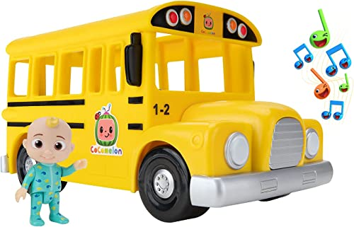 popular CoComelon high quality Musical Yellow sale School Bus ,WT80113 outlet online sale