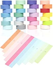 YUKUNTANG Washi Masking Tape Set, Decorative Writable Washi Craft Tape Set 28 Rolls for DIY Crafts Book Designs