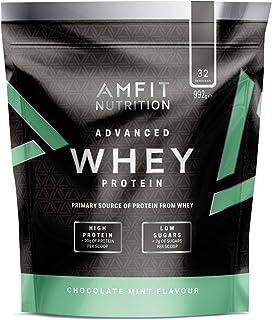 Marca Amazon - Amfit Nutrition Proteína Whey de suero de