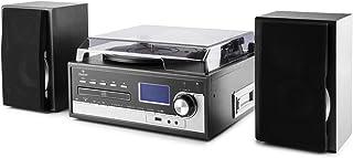 comprar comparacion Auna Blackwood 2020 Edition Tocadiscos estéreo - Sistema Multimedia, Altavoces, Reproductor de CD y Cassette, Radio, AUX, ...