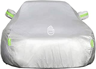 QYZHCP Car Cover Compatible with Citroen C4 Cactus Sun Protection Car Cover to Prevent Freezing and Hail Damage, All-Weather Breathable Waterproof and UV Protection (Color : Silver)