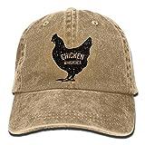 Buyiyang-01 Men Women Chicken Whisperer Denim Jeanet Baseball Hat Adjustable Dad Hat