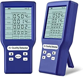 Elikliv 空気品質モニター 多機能 空気質検出器 二酸化炭素検出器 ppm メーター小型 HCHO/TVOC/CO2テスター AQI 空気質モニター ホルムアルデヒド 測定 ガス分析計