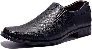 SirCorbett Men's Big Size Black TPR Formal Shoes -11