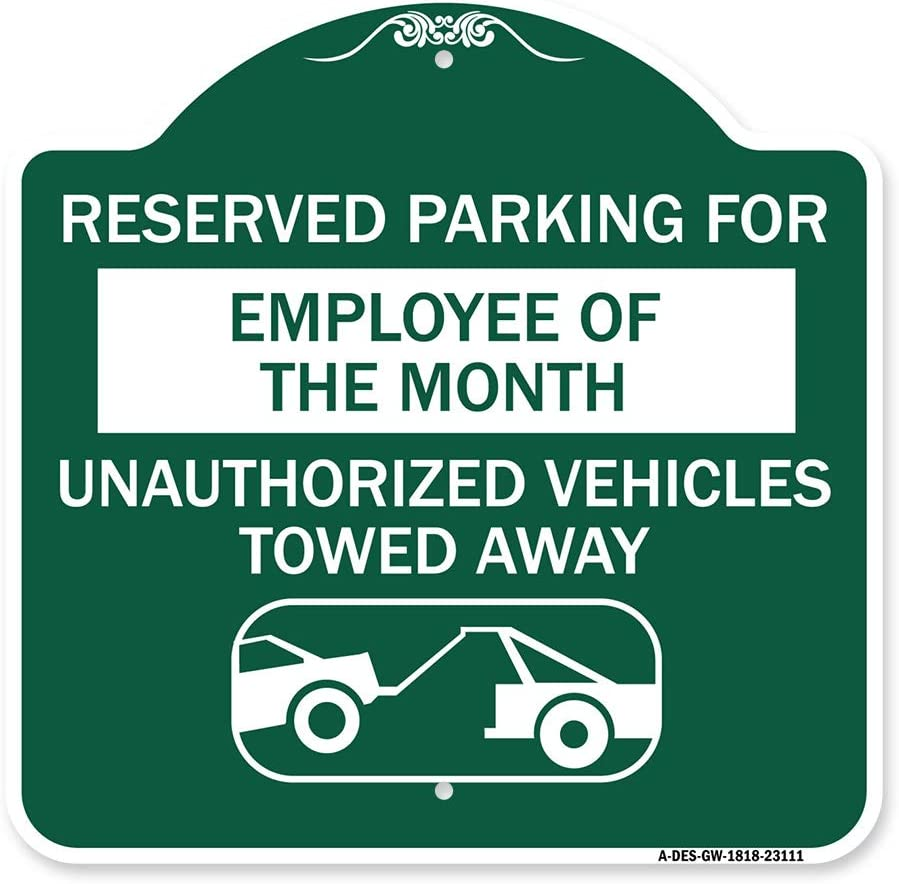 quality assurance SignMission Mail order cheap Designer Series Sign - Reserved for Employee Parking