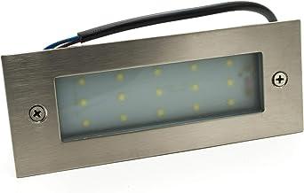 Foco empotrable de 15 ledes, marca paso camino, 4 W, luz exterior, 230 V, IP65, 360 lúmenes Bianco caldo