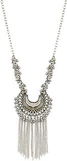 Aradhya Afghani Turkish Style Vintage Oxidised German Silver Tribal Necklace Set for Women