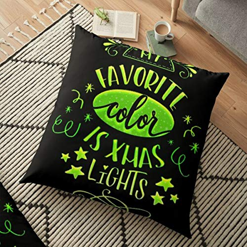 My Favorite Color Floor Pillow Spun Polyester Square Pillow
