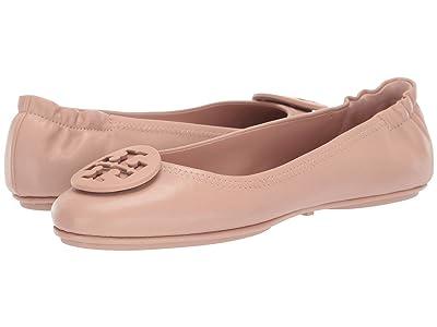 Tory Burch Minnie Travel Ballet w/ Logo (Goan Sand) Women