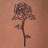 GRAVURZEILE Origami Rose aus Holz - in verschiedenen Farben und Größen - Moderne Wand-Deko und Eyecatcher - Farbe Neutral, Größe Größe: XL (59,0 x 30,7 cm)