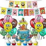 WOO - SpongeBob Birthday Party Supplies, SpongeBob Theme Birthday Party...