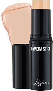 Camera Stick Foundation by Luscious Cosmetics | Full Coverage Cream Foundation | Super blendable & Hydrating Formula | Cruelty-Free and Vegan Makeup (2 Warm Beige)