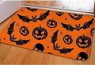 Youngerbaby Halloween Indoor Doormat for Entrance Way Home Decor 23x16 INCH Non Slip Soft Pumpkin Ghost Bath Rug for Inside Bathroom Bedroom Floor, Washable, Rubber Back,Absorbent Door Mat