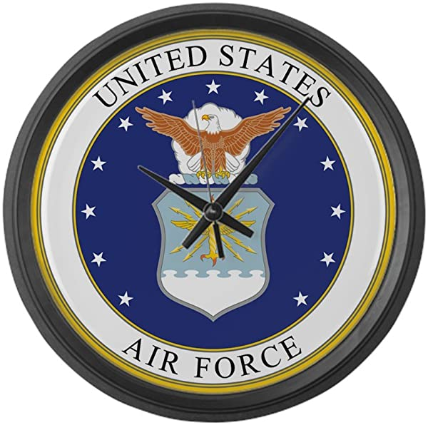 CafePress US Air Force Large 17 Round Wall Clock Unique Decorative Clock