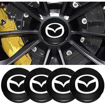 xzBettway 4Pcs//Set Auto Car Sticker Wheel Center Hub Cap Logo Aluminium fit for Mazda 56mm//2.22inch, Mazda