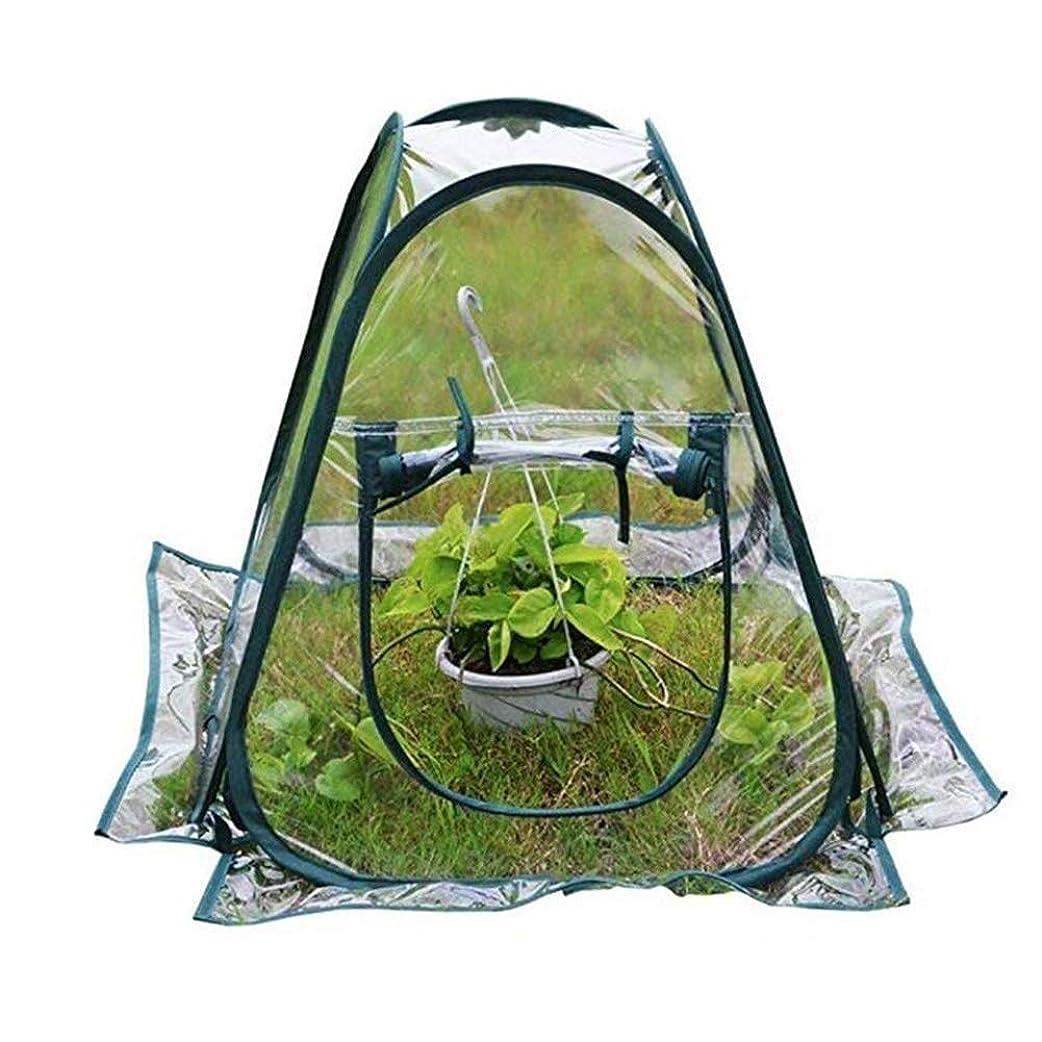 軽減する疑問に思う同盟ガーデン温室ホームウォームルーム冬の植物の花保護カバーポップアップテント裏庭防水防雪PVC透明運べる Baiying (Color : 明確な, Size : 70x70x80cm)