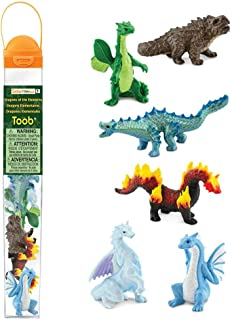 Safari Ltd. TOOBs Collection - Dragons of The Elements TOOB (Includes 6 Figures) - Non-Toxic and BPA Free - Ages 3 and Up