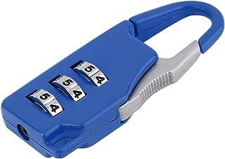 WEIWEITOE Top Safety Steel 3//4 Dial Combinaci/ón Candado Locker Puerta Caja de Herramientas Equipaje Maleta Lock Mantenga su Propiedad Segura Plateada,