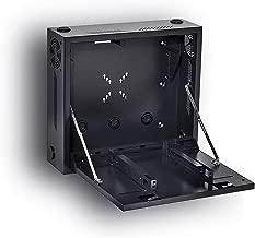 Kenuco Heavy Duty 16 Gauge Steel DVR Security Lockbox with Fan and Swing Open Top (24'' x 24'' x 8'' Black)