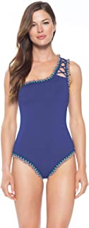 Women's Lace-Up Asymmetrical One Piece Swimsuit