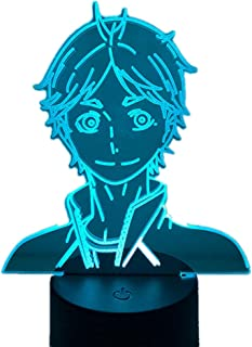 RGB 3d Illusion Light Haikyuu Hinata Shoyo Kageyama Tobio Sugawara Koushi Tanaka Ryunosuke Figure Anime Lamp for Bedrooms ...