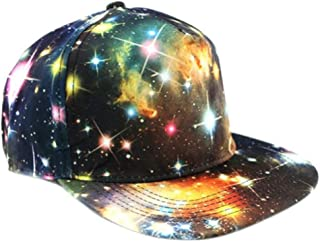 MKJNBH Summer Fashion Women Casual Print Cloth Hip Hop Hat Flat Adjustable Outdoors Psychedelic Baseball Cap Femme