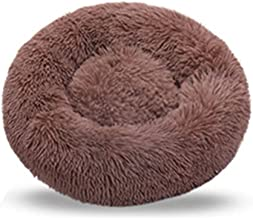 Fhony Dog Bed Orthopedic Dog Bed Comfortable Cuddler Round Dog Bed Ultra Soft Washable Dog and Cat Cushion Bed Artificial ...