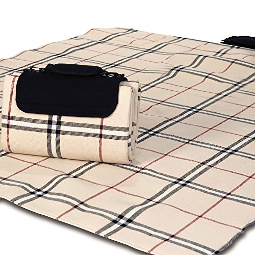 Picnic Plus M5108-BTL Beige tradicional Gran Mega Manta Mat Picnic