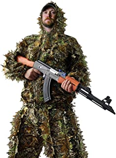 LOOBEEN Ghillie Suit - Hunting Outfit Camo Clothes Set...