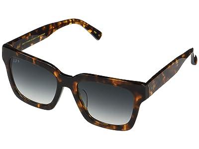 DIFF Eyewear Austen (Dark Tortoise/Blue) Fashion Sunglasses